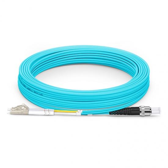 15m LC/UPC-ST/UPC 万兆双工多模OM3光纤跳线 - 2.0mm PVC(OFNR)