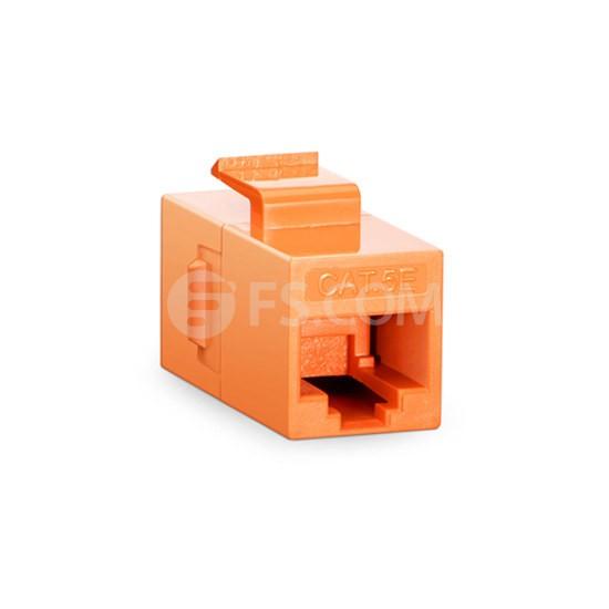 Cat5e超五类非屏蔽(UTP)网络直通模块 - 橙色