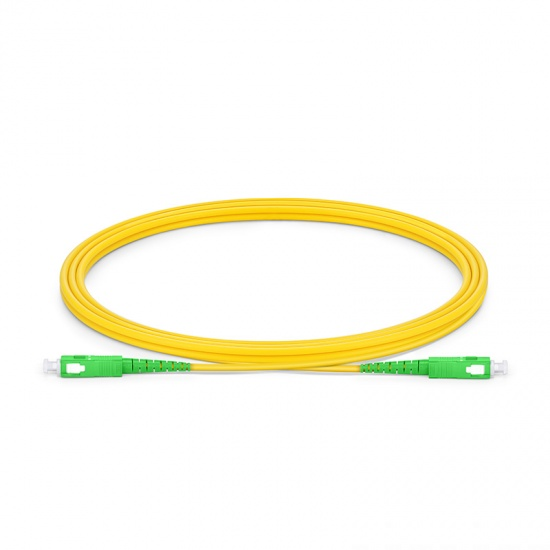 SC-SC APC Simplex Single Mode Fibre Patch Lead 2.0mm PVC (OFNR) 2m