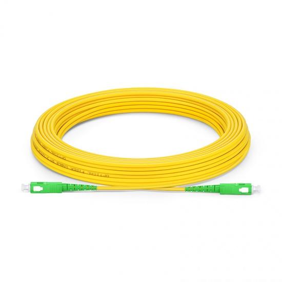 30m (98ft) SC APC to SC APC Simplex OS2 Single Mode PVC (OFNR) 2.0mm Fibre Optic Patch Lead