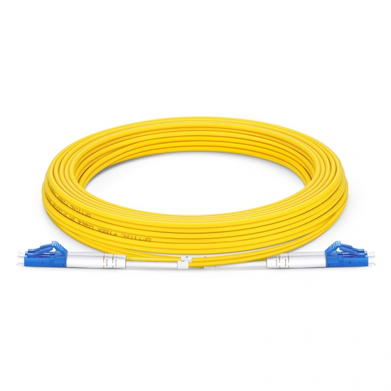 7m (23ft) LC UPC to LC UPC Duplex OS2 Single Mode LSZH 2.0mm Fiber Optic Patch Cable