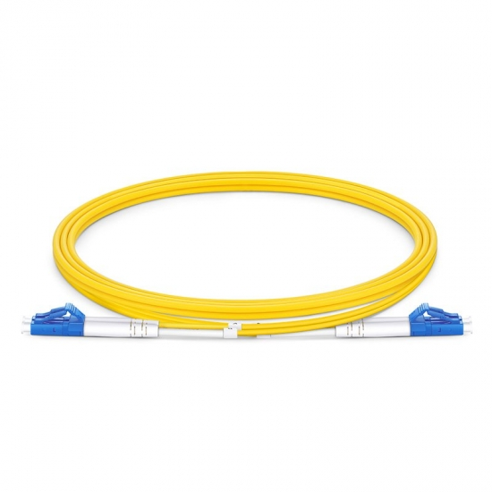 1m (3ft) LC UPC to LC UPC Duplex OS2 Single Mode LSZH 2.0mm Fiber Optic Patch Cable