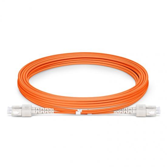 3m SC/UPC-SC/UPC 双工多模OM2光纤跳线 - 2.0mm PVC(OFNR)