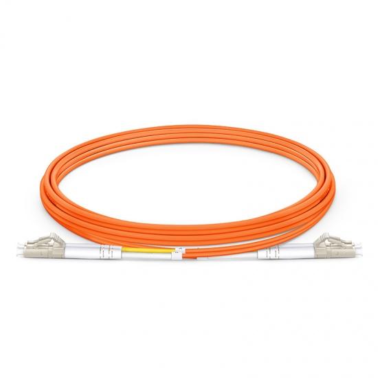 2m LC/UPC-LC/UPC 双工多模OM2光纤跳线 - 2.0mm LSZH