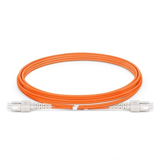 LWL-Patchkabel, 2m (7ft) SC UPC auf SC UPC Duplex Stecker,  OM2 Multimode LSZH 2,0mm