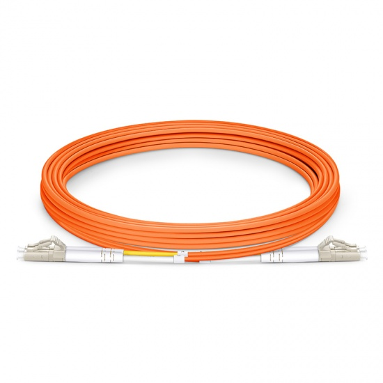 3m LC/UPC-LC/UPC 双工多模OM1光纤跳线- 2.0mm PVC(OFNR)
