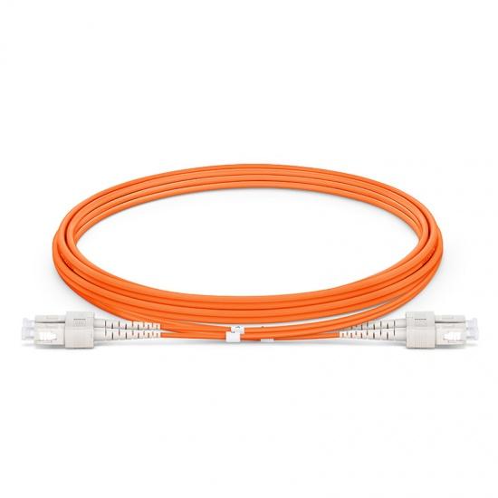 2m SC/UPC-SC/UPC 双工多模OM1光纤跳线- 2.0mm PVC(OFNR)