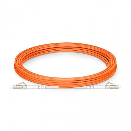 5m LC/UPC-LC/UPC 单工多模OM1光纤跳线- 2.0mm PVC(OFNR)