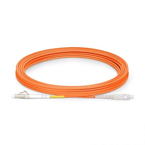 LWL-Patchkabel, 10m (33ft) LC UPC auf SC UPC Simplex Stecker, OM1 Multimode PVC (OFNR) 2,0mm