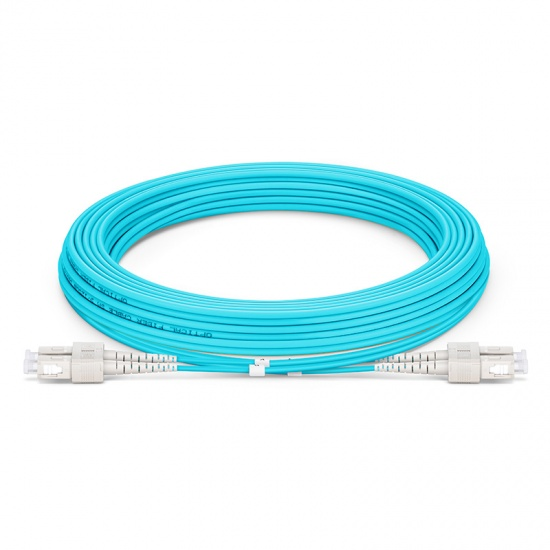 5M SC/UPC-SC/UPC 万兆双工多模OM3铠装光纤跳线 3.0mm PVC(OFNR)