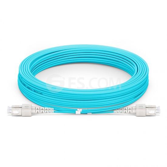 10M SC/UPC-SC/UPC 万兆双工多模OM3铠装光纤跳线 3.0mm PVC(OFNR)