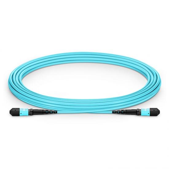 5M 12芯 万兆多模(OM4)50/125  MTP(公)主干光纤跳线 LSZH外护套,极性 ,用于QSFP-PIR4-40G, QSFP-PLR4-40G网络布线