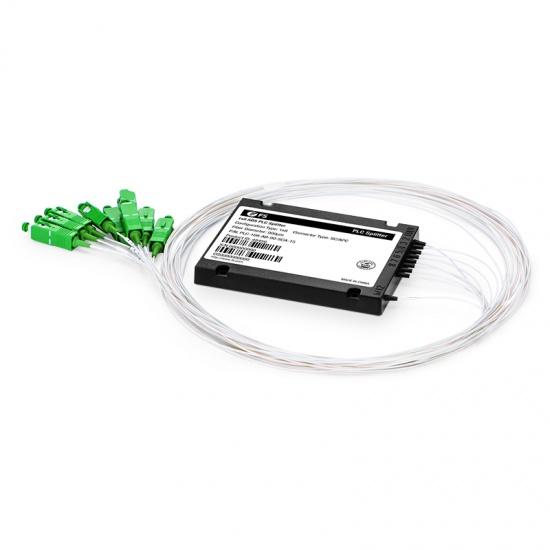 1x8  ABS盒式单模PLC平面波导型光分路器 900μm,SC/APC