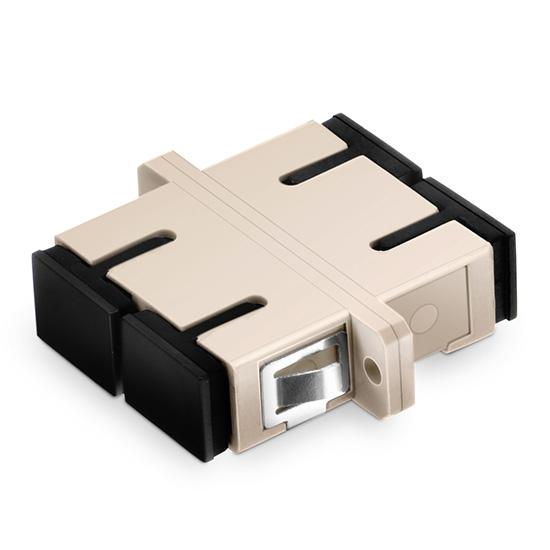 SC/UPC to SC/UPC Duplex OM1/OM2 Multimode Plastic Fiber Optic Adapter/Mating Sleeve with Flange