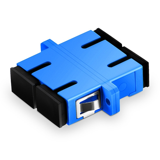 SC/UPC to SC/UPC Duplex Single Mode Plastic Fiber Optic Adapter/Mating Sleeve with Flange
