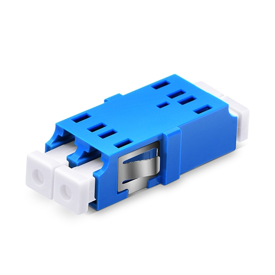 LC/UPC to LC/UPC Duplex Single Mode SC Footprint Plastic Fiber Optic Adapter/Mating Sleeve without Flange