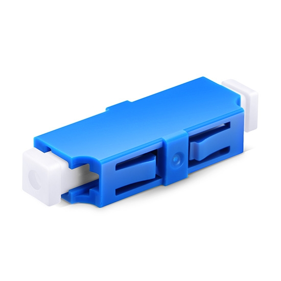 LC/UPC to LC/UPC Simplex Single Mode Plastic Fiber Optic Adapter/Mating Sleeve without Flange