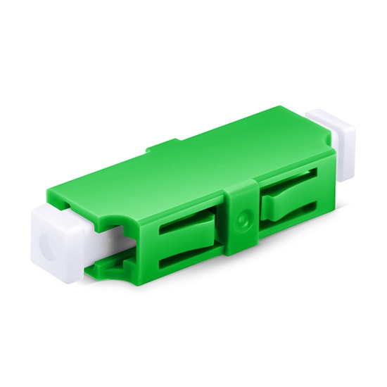 LC/APC to LC/APC Simplex Single Mode Plastic Fibre Optic Adapter/Mating Sleeve without Flange
