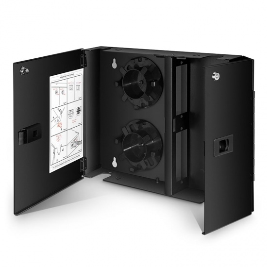 48 Fibres FHD Fibre Optic Wall Mount Enclosure, 2-Door 2-Adapter Panel