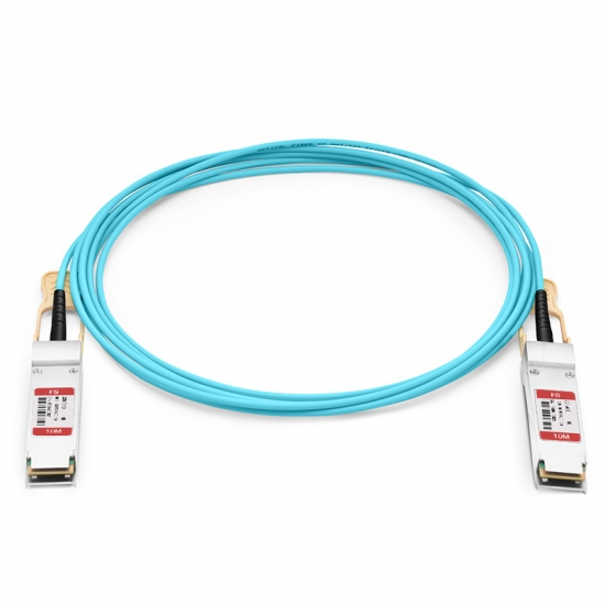 10m (33ft) HW QSFP-100G-AOC10M Compatible 100G QSFP28 Active Optical Cable