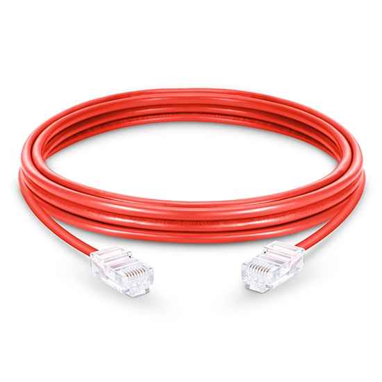10ft (3m) Cat6 Non-booted Unshielded (UTP) PVC Ethernet Network Patch Cable, Red