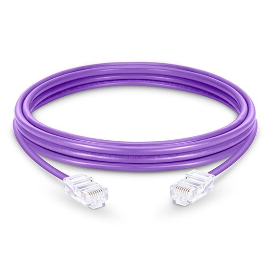 1m Cat6六类非屏蔽(UTP)网络跳线,无尾套设计,紫色,PVC