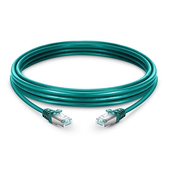 5m Cat6六类双屏蔽(SFTP)网络跳线,卡沟设计,绿色,PVC CMX