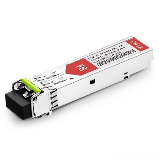 惠普(HP)兼容SFP20K-CW1310 CWDM SFP千兆光模块 1310nm 20km