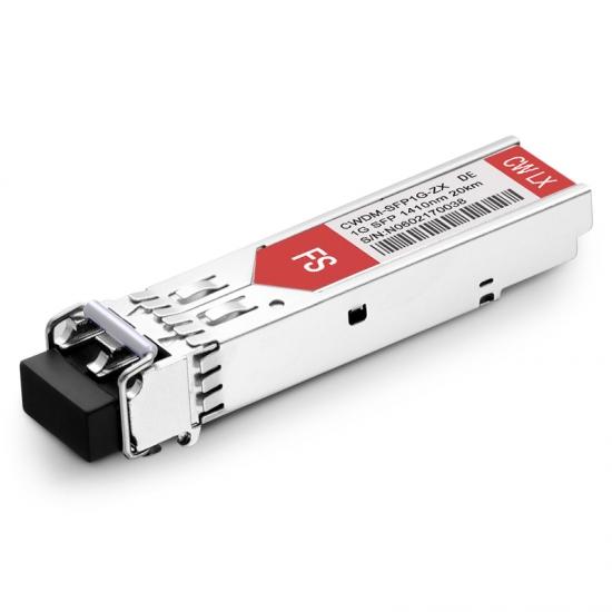 Dell CWDM-SFP-1410-20 1410nm 20km Kompatibles 1000BASE-CWDM SFP Transceiver Modul, DOM