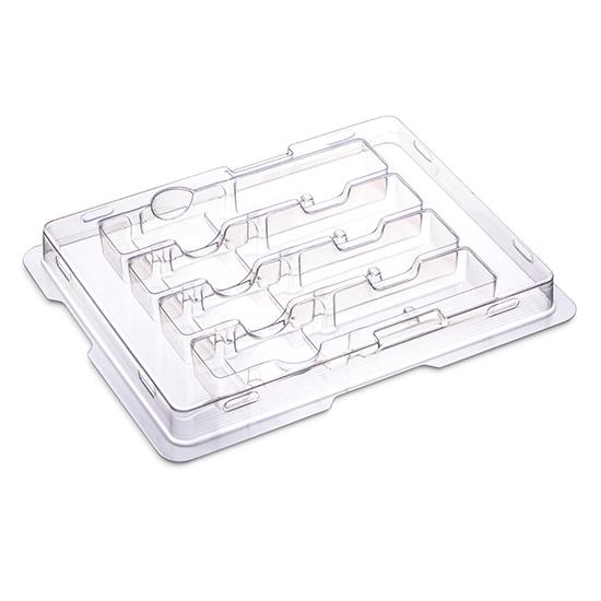 塑料包装盘, 4支装QSFP+ QSFP28/XFP光模块专用