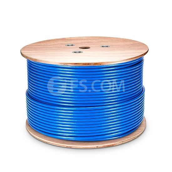 305m 超六类Cat6a双屏蔽(SFTP)网线-蓝色- PVC CMR