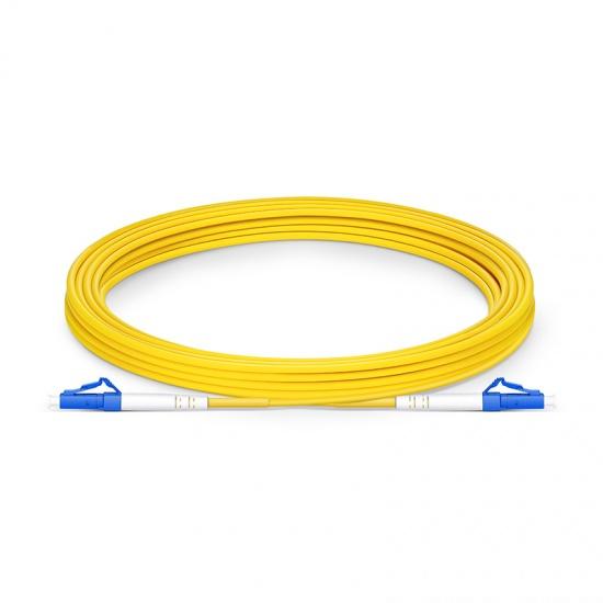 Biegeunempfindliches LWL-Patchkabel, 5m (16ft) LC UPC auf LC UPC Simplex Stecker, OS2 Singlemode PVC (OFNR) 2,0mm