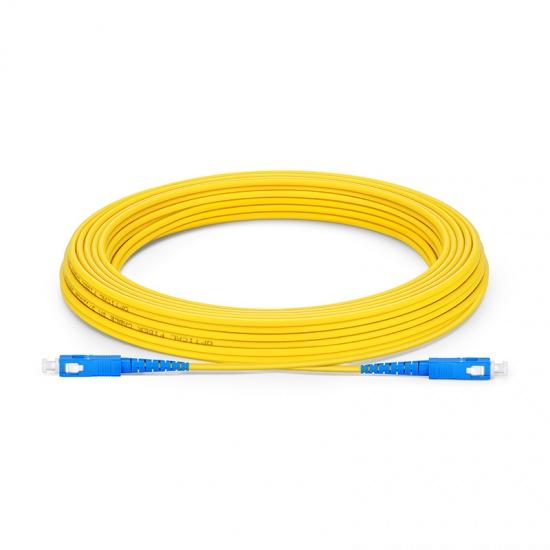 15M SC/UPC - SC/UPC 单工单模 OS2 弯曲不敏感光纤跳线 - 2.0mm LSZH外护套