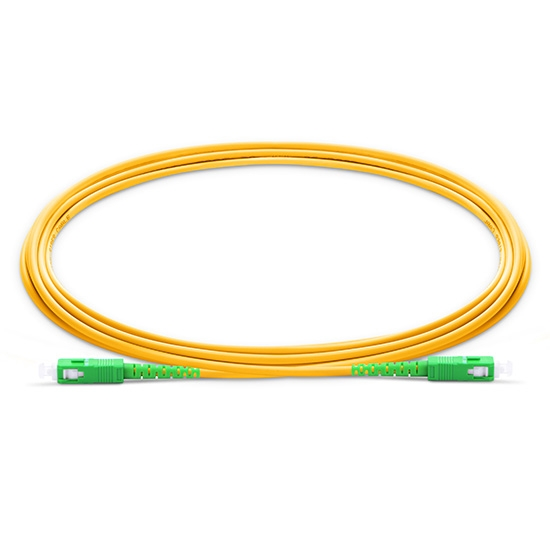 Biegeunempfindliches LWL-Patchkabel, 1m (3ft) SC APC auf SC APC Simplex Stecker, OS2 Singlemode PVC (OFNR) 2,0mm