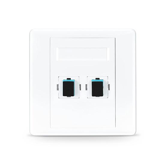 SC/UPC双口直面光纤面板, 多模OM3/OM4