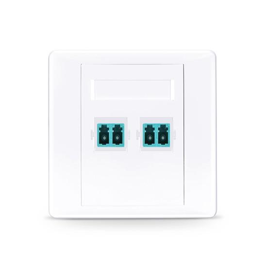 LC/UPC双口直面光纤面板,多模OM3/OM4