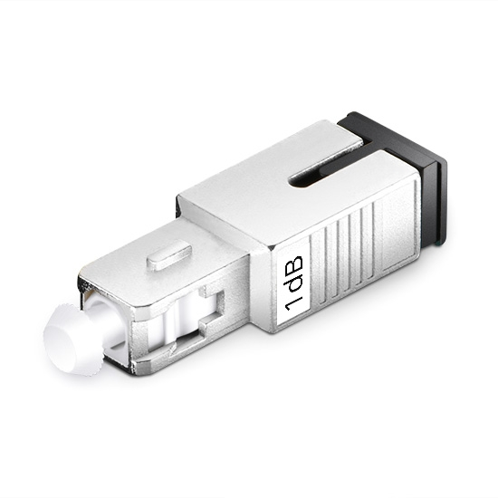 SC/UPC Singlemode Fixed Fiber Optic Attenuator, Male-Female, 1dB