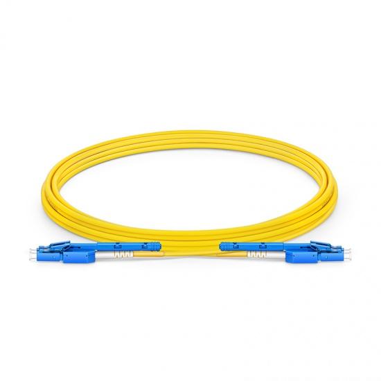 3m LC-LC 双工单模OS2光纤跳线,推拉式一管双芯