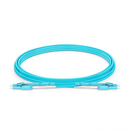 3m LC-LC 双工多模OM4光纤跳线,推拉式一管双芯