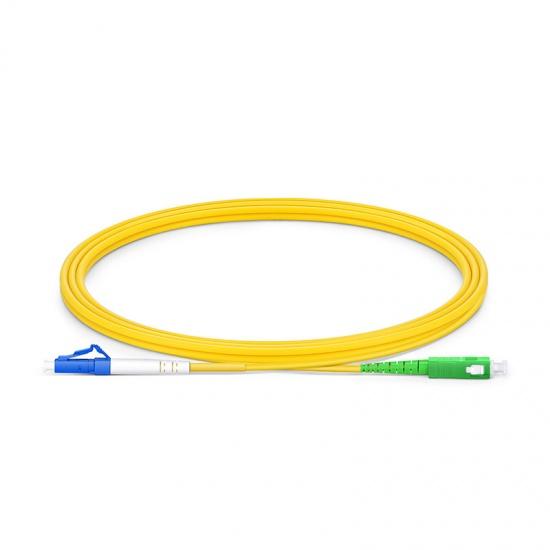 2m LC/UPC-SC/APC 单工单模OS2弯曲不敏感光纤跳线-2.0mm PVC(OFNR)