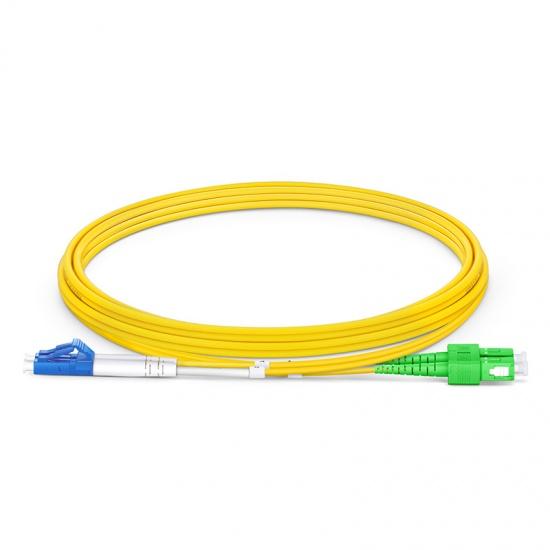 2m LC/UPC-SC/APC 双工单模OS2弯曲不敏感光纤跳线-2.0mm PVC(OFNR)