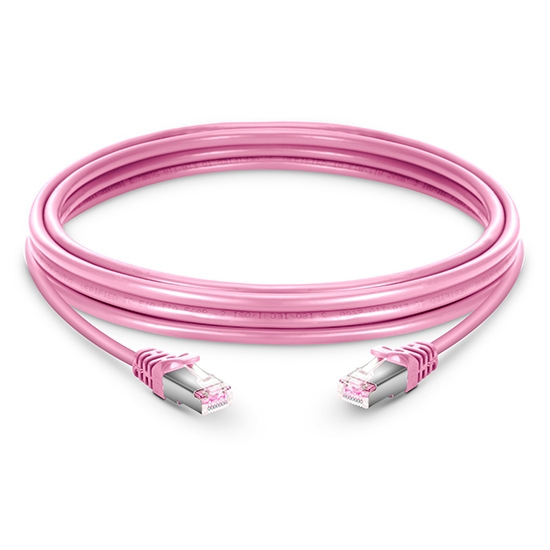 16ft (5m) Cat6 Snagless Shielded (SFTP) PVC Ethernet Network Patch Cable, Pink