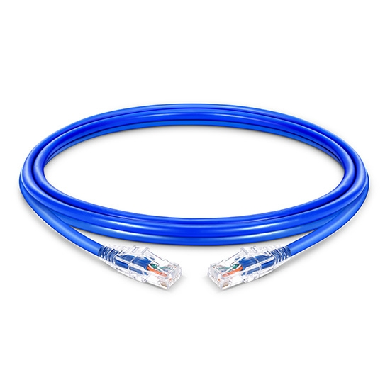 0.3m Cat5e Slim Ethernet Patch Cable - Snagless, Unshielded (UTP) PVC CM, 28AWG, Blue
