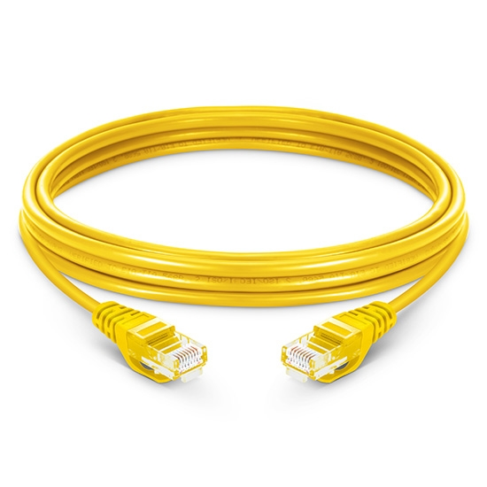 49ft (15m) Cat5e Snagless Unshielded (UTP) PVC Ethernet Network Patch Cable, Yellow