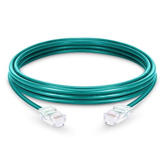 Cable de Red Ethernet LAN RJ45 UTP Cat 5e 1m 10/100/1000 Mbps PVC Verde