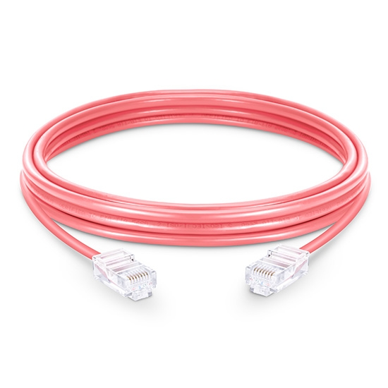 3.3ft (1m) Cat5e Non-booted Unshielded (UTP) PVC Ethernet NetworkPatch Cable, Pink