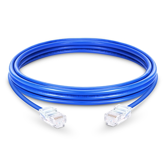 6.6ft (2m) Cat5e Non-booted Unshielded (UTP) PVC Ethernet Network Patch Cable, Blue