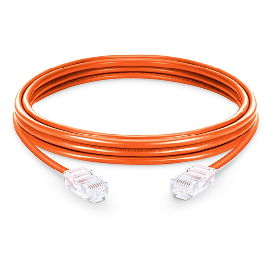 49ft(15m) Cat5e 保護カバーなし シールドなし(UTP)イーサネットネットワーク用LANパッチケーブル(PVC、オレンジ)
