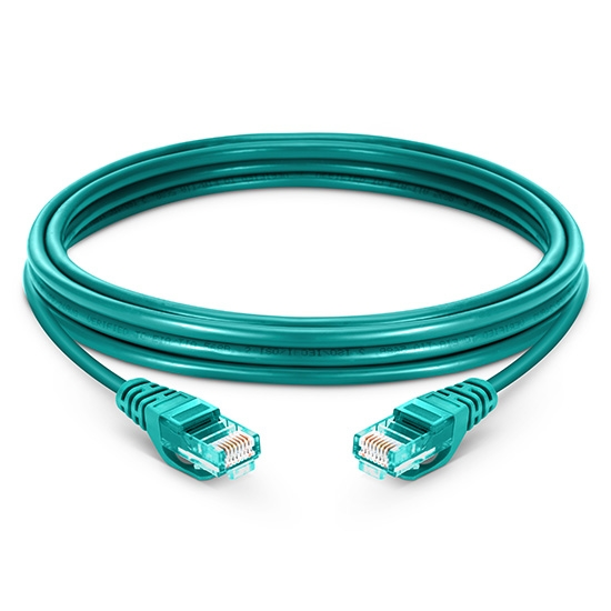 Cable de Red Ethernet LAN RJ45 UTP Cat 5e 30m 10/100/1000 Mbps LSZH Verde
