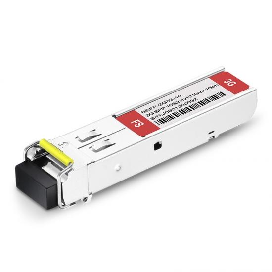 3Gb/s MSA BiDi SFP 1550nm-TX/1310nm-RX 10km Video Pathological Patterns Transceiver Module for SD/HD/3G-SDI